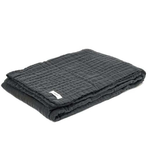 folded up 6 layer soft organic cotton blanket