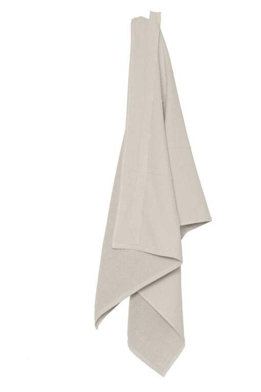 organic towel wrap in stone