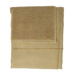 khaki towel wrap folded up