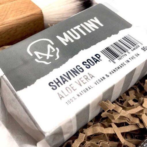 mens safety razor set with shaving soap