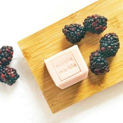 natural raspberry soap block