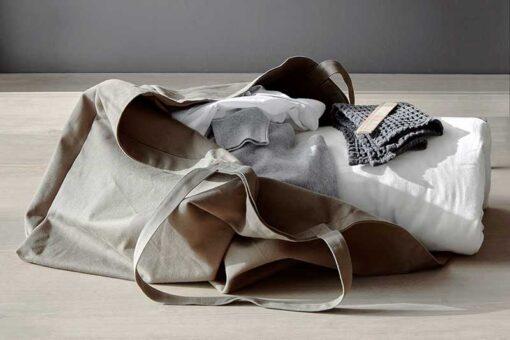 large organic bag on floor