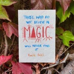 believe in magic inspirational card