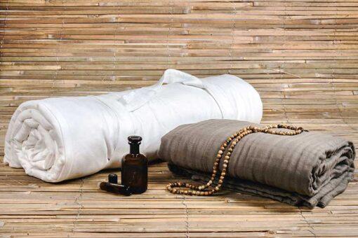 blanket and meditation mattress