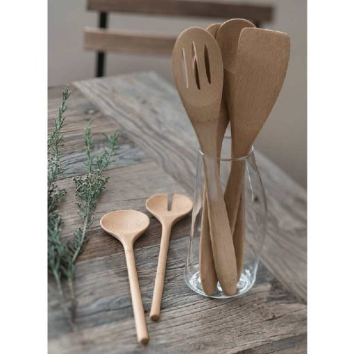 Organic Bamboo Essential Utensils in a glass container