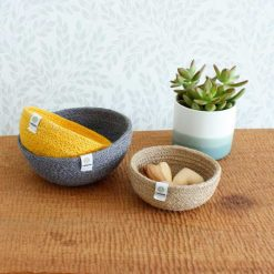 jute bowls on a table