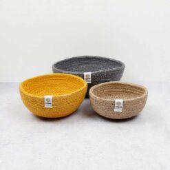 beach jute bowls
