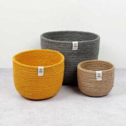 jute bowls beach colour