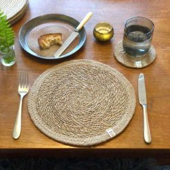 seagrass and jute tablemat