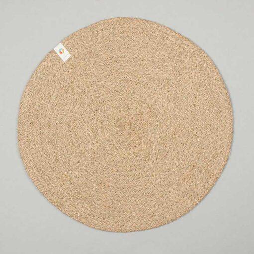 reverse side of a jute table mat