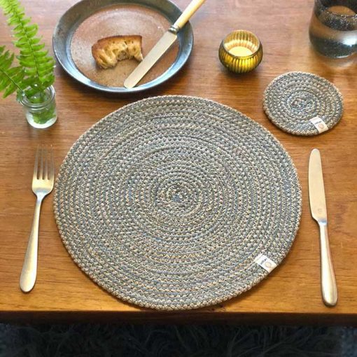 natural table mat on a table