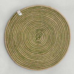 green jute table mat
