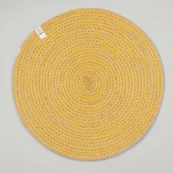 yellow jute table mat