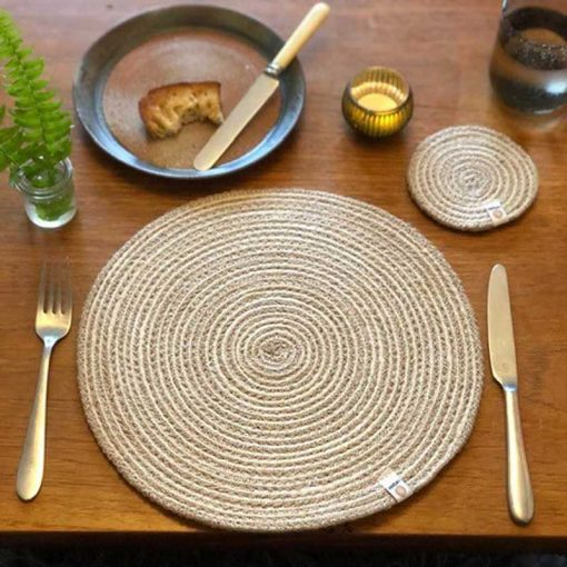 jute table mat on a table