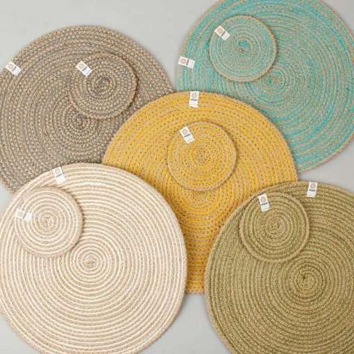 jute coasters and tablemats