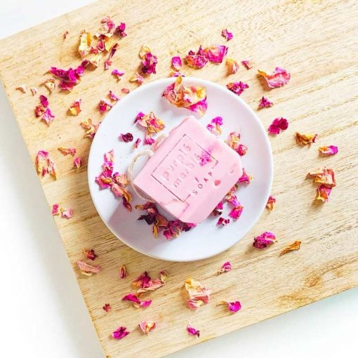 rose natural soap bar