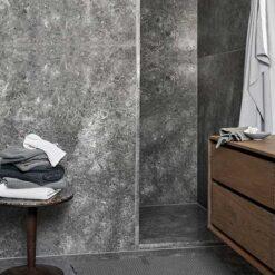 cotton bath mat in shower room