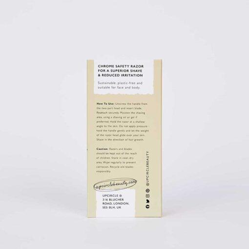 upcircle safety razor packaging