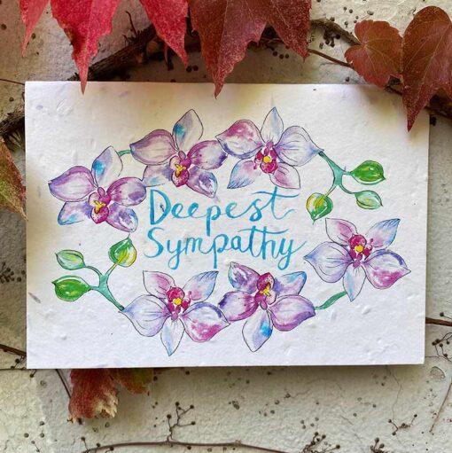 plantable sympathy card