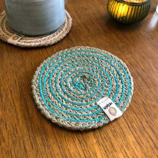 eco friendly coaster on a table