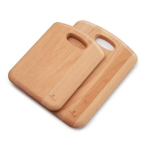 wooden chopping board set of 2 on top of each other