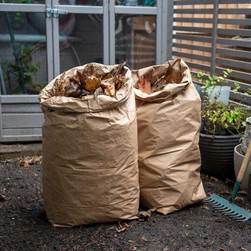 2 compostable garden waste bags