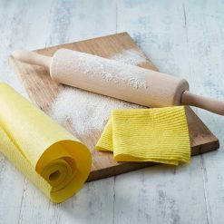 reusable sponge kitchen roll next to rolling pin
