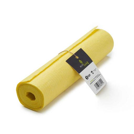 reusable sponge kitchen roll in yellow