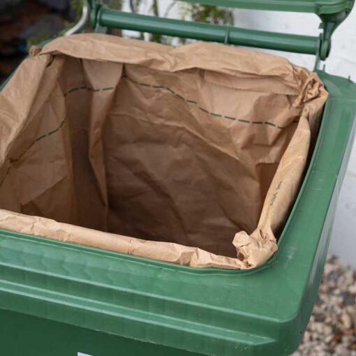 Compostable Wheelie Bin Liner inside a wheelie bin