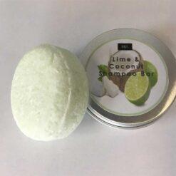 lime and coconut botanical shampoo bar