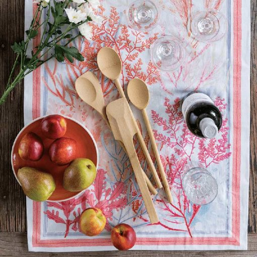 bamboo scraping spatula on table spread