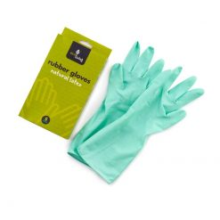 natural rubber gloves in green