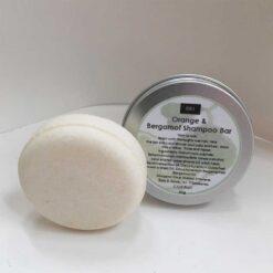 orange and bergamot botanical shampoo bar