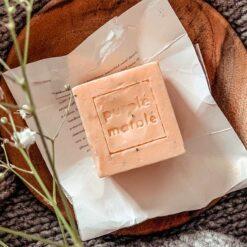 natural orange soap bar