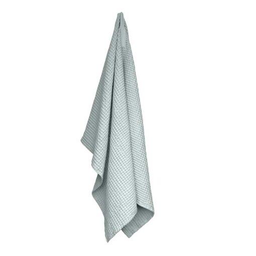 sky blue waffle towel and blanket