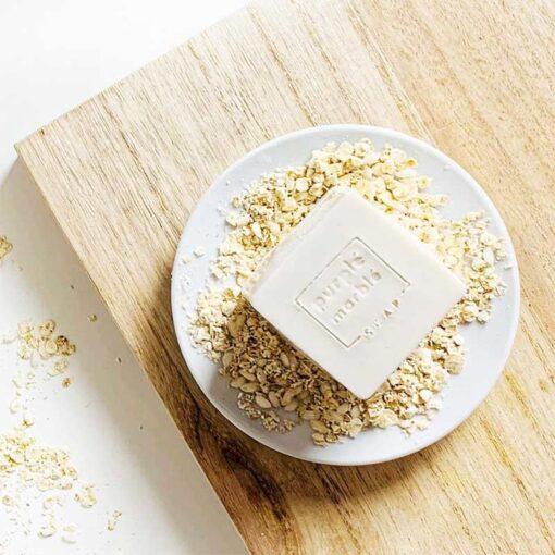 natural oat soap bar