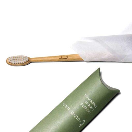 white truthbrush in packaging