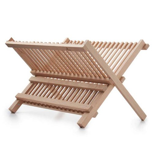 sustainable, wooden dish drainer