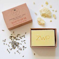 shea butter soap bar in packaging