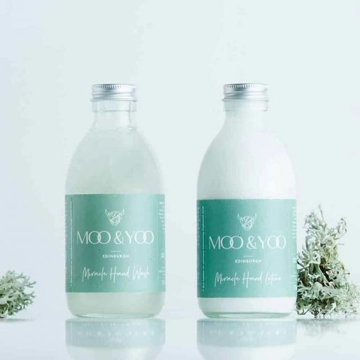 plastic free hand wash and hand lotion
