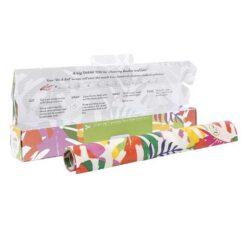 vegan wax wraps on a roll inside packaging