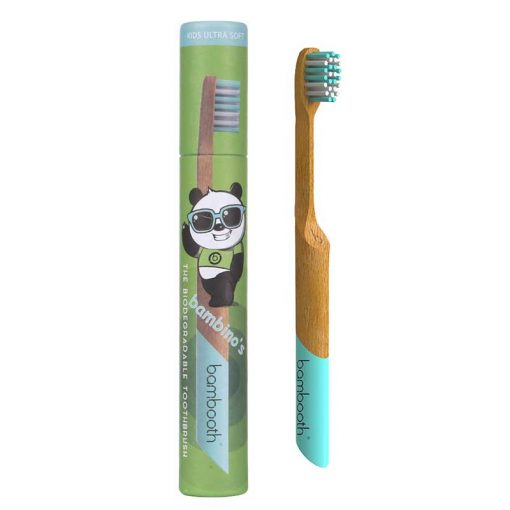 kids bambooth toothbrush in aquamarine