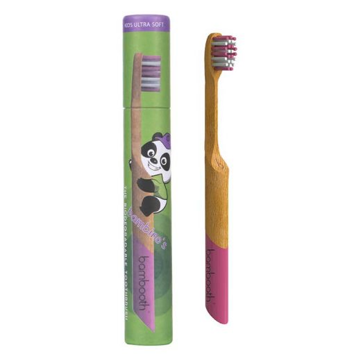 kids bambooth toothbrush in coral pink