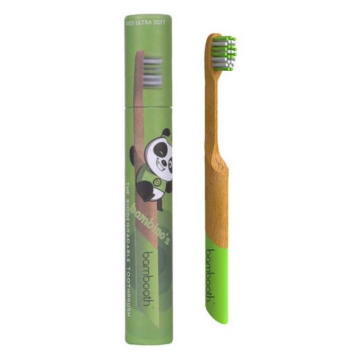 kids bambooth toothbrush in forest green
