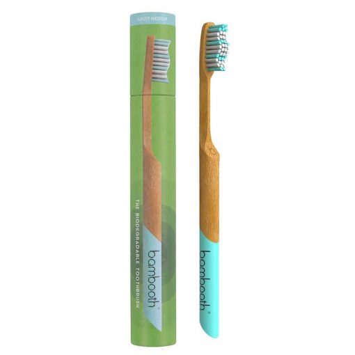adult bambooth toothbrush in aquamarine