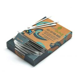 ecoliving organic cotton buds in cardboard packaging