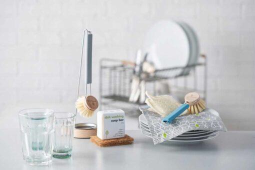 ecoliving dish brush on kitchen side