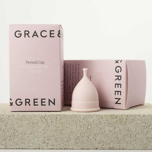 grace and green period cup rosewater pink
