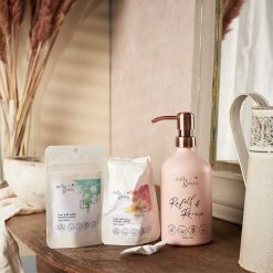 milly and sissy refillable shower gel set