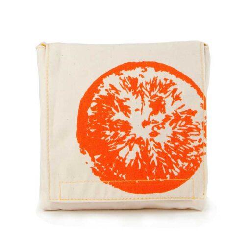 organic cotton snack pack with orange print